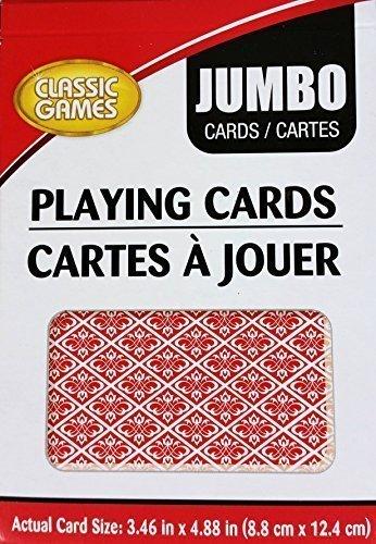 Jumbo Playing Cards (3.46 in. x 4.88 in.)