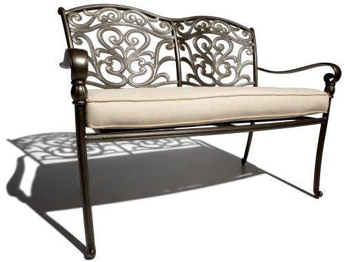 Strathwood St Thomas Aluminum 2 Seater Loveseat with Seat Cushion OutdoorA