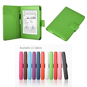"Exact PU Leather Folio Case for Amazon Kindle Paperwhite (6"" High Resolution Display with Built-in Light), GREEN (with Auto Sleep/Wake)"