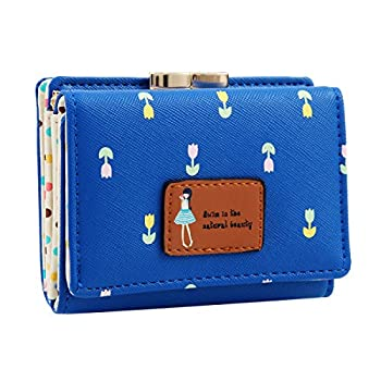 12. Damara Female Faux Leather Card Holder Mini Wallet Clutch.