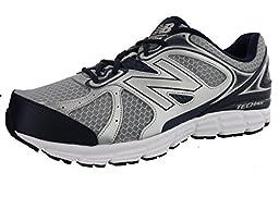 New Balance Men\'s M560V6 Running Shoe, Silver/Navy, 11 4E US