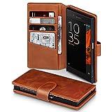 Sony Xperia XZ Case, Terrapin [ECHT LEDER] Brieftasche Case