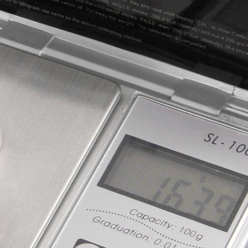 SODIAL(R)BALANCE DE POCHE ELECTRONIQUE PRECISION 0.01-100 GRAMME