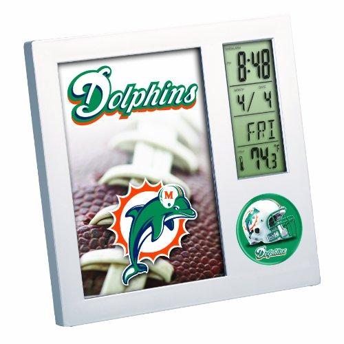 NFL Miami Dolphins Digital Desk Clock