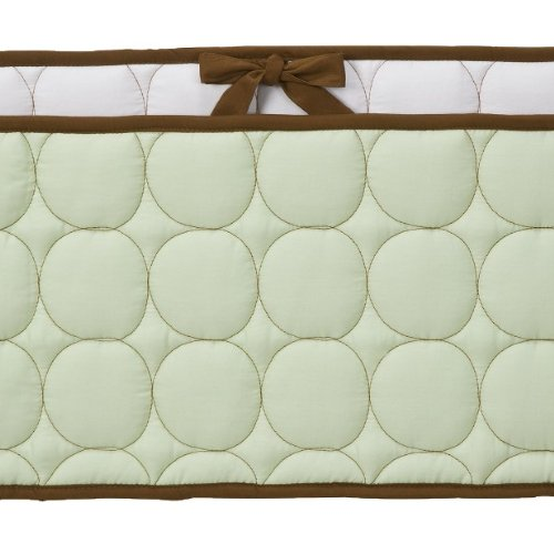 Quilted Circles Green/Choc Bumper Pad