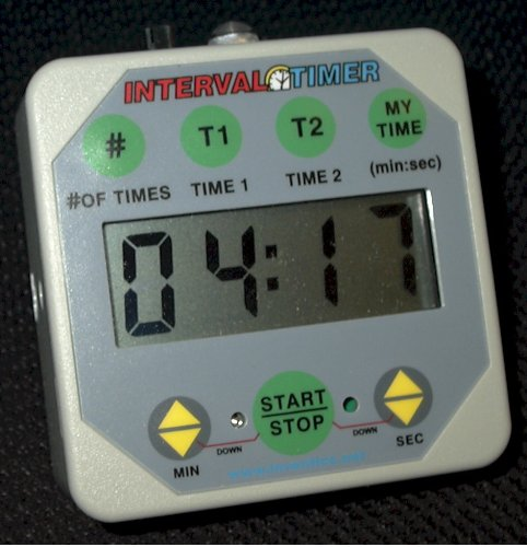 Interval Workout Timer TMR05-G Grey LOUD with VOLUME control: Boxing, Wrestling, Martial Arts, MMA, HIIT, Endurance, Strength, Fitness