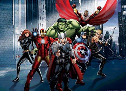 Avengers Papier Peint Photoposter Thor Hulk Iron Man Au Combat