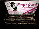 New All-in-one Rhinestone Straps (Gold) with Exclusive Brooch Pin Hooks–Limitless Applications-Works with or Without a Bra. StrapN'Guard®–Secures Women Clothing and Re-styles (Prevents Strapless Dresses/Garments from Falling Down)–Perfect Straps for Every Occasion, Wedding, Prom, Graduation, Party Dresses, thumbnail