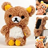 Authentic iPlush Plush Toy Cell Phone Case for Samsung Galaxy Note i9220 (Brown Bear)