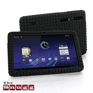 Snugg Motorola Xoom (1) Squared Skinny Fit Protective Case Cover in Black