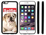 Rikki KnightTM Selfie Old English Bulldog Dog Design iPhone 6 Plus Case Cover (Black Rubber with front bumper protection) for Apple iPhone 6 Plus