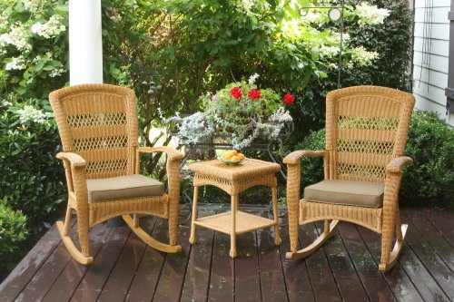 Portside Plantation Rocker Set Finish: Amber picture