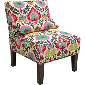 Armless Upholstered Accent Chair - Santa Maria Desert Flower