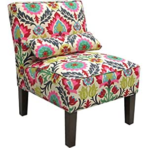 Armless Upholstered Accent Chair - Santa Maria Desert Flower