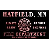 qy58445-r FIRE DEPT HATFIELD, MN MINNESOTA Firefighter Neon Sign Enseigne Lumineuse