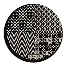 hehe Stainless Geometric Nail Image Stamp Stamping Plates Template - 5