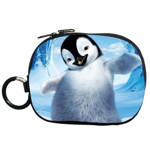 Generic Personalized Cartoon Lovely Penguin Surffing For Coin Purse (Two Side) front-457275