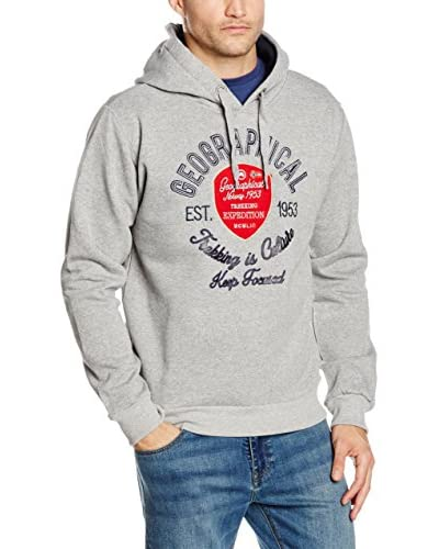 Geographical Norway Kapuzensweatshirt Garlon grau