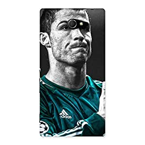 UNICOVERS Soccer Calm Star Back Case Cover for Sony Xperia M2