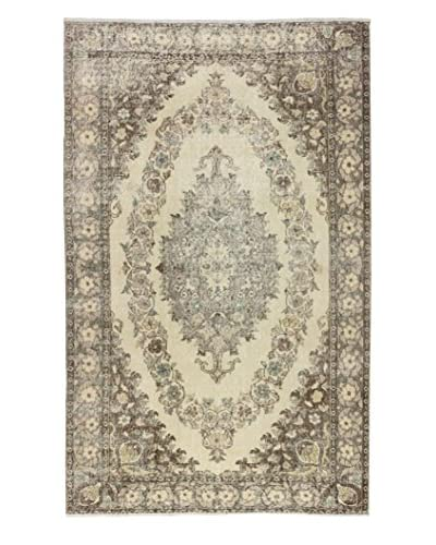 eCarpet Gallery One-of-a-Kind Hand-Knotted Anatolian Rug, Cream/Brown, 5' 6 x 8' 10