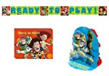Toy Story 3 Party Decorations Pack Including Invitations, Banner Plastic and Centerpiece.