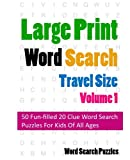 Large Print Word Search: Travel Edition