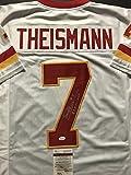 "Autographed/Signed Joe Theismann""83 NFL MVP"" Washington White Football Jersey JSA COA"