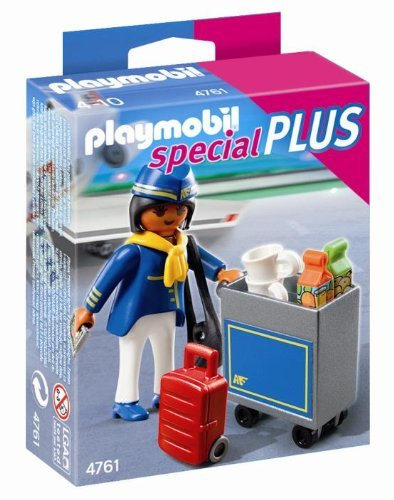 PLAYMOBIL Flight Attendant with Service Cart - 1