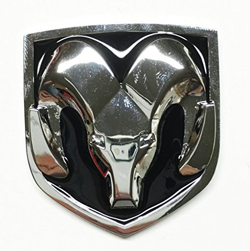 Black & Chrome Head Emblem Replace OEM Mopar Dodge Ram 1500 2500 3500 Charger (Dodge Ram 2500 Grill Emblem compare prices)