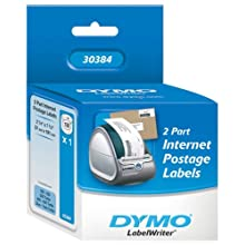 "DYMO LabelWriter Postage Label, 2-Part Internet Postage, 2-1/4"" x 7-1/2"", 150 per pack"