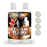 Covert Flasks 16oz Hidden Shampoo and Conditioner Alcohol Flask - Two Secret Realistic Flasks to Conceal Your Preferred Alcohol Anywhere You Go - Tamper Safety Seals Included