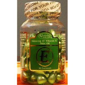 Ginseng & Vitamin E Skin Oil, 90 Capsules