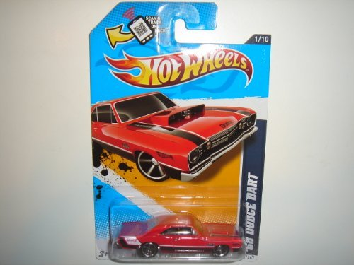 2012 Hot Wheels Muscle Mania - Mopar '68 Dodge Dart Red #81/247