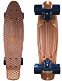 Hoverboard Gold Best Deals - Anodized Plastic Skateboard (22 Inch) Cruiser Board with abec-9 Bearing Gold