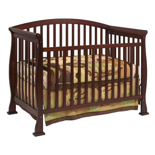Espresso Sleigh Crib front-637004