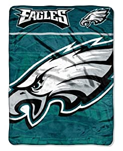 NFL Philadelphia Eagles Micro Raschel Throw Blanket, 46 x 60-Inch by Northwest