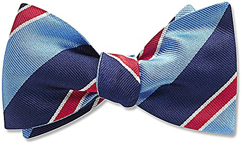 Independence Park Blue Striped, Men's Bow Tie, by Beau Ties Ltd of Vermont