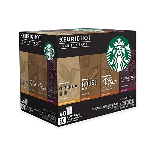 Starbucks Coffee Keurig K-Cup Variety Pack, 40 Count