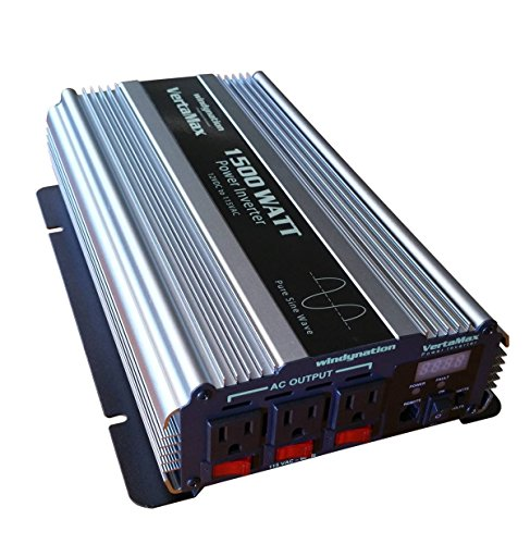 VertaMax 1500 Watt (3000W surge) 12V Pure Sine Wave Power Inverter DC to AC Car, Solar, Off-Grid, RV, Back Up Power (Solar Power Ac compare prices)