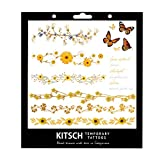 Kitsch Flower Metallic Tattoos, Gold,...