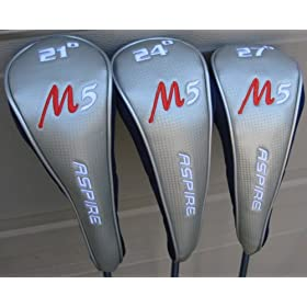 2009 Ladies Golf Hybrid #3, 4, 5 Golf Clubs Set Womens 21* 24* & 27* Clubs Graphite $249 Retail