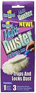 Compac Multi-Duster 3pk - 3 Disposable Dusters w/ 1 foldable handle (Pack of 6)