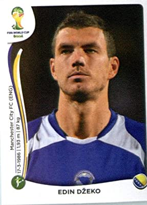 2014 Panini World Cup Soccer Sticker # 449 Edin Džeko Team Bosnia & Herzegovina