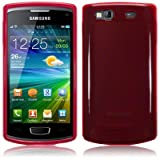 Red Tpu Gel Case Cover For Samsung Wave 3 S8600 PART OF THE QUBITS ACCESSORIES RANGEby TERRAPIN