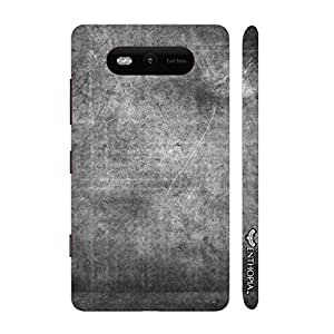 Nokia Lumia 820 CHARCOAL GRUNGE designer mobile hard shell case by Enthopia