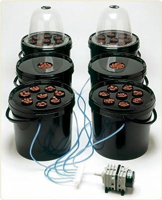 Aero Pod Deep Water Culture (DWC) 4 pod hydroponics system one pump - 8 site lid by Esoteric Hydroponics