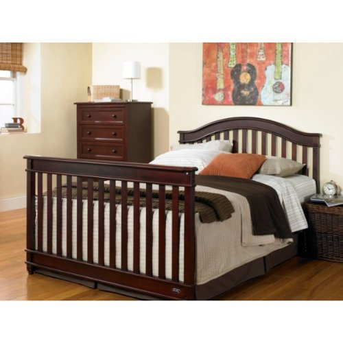 5 Cool Cribs That Convert To Full Beds: EUROPA BABY PALISADES LIFETIME CONVERTIBLE CRIB CHERRY
