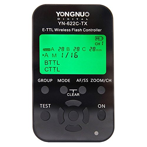 Yongnuo Yn-622C-Tx Yn622C-Tx Wireless Ttl Flash Controller Transmitter With Lcd Display Working With Hss& Full Function For Canon