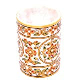Marble Kraft Multi Colored Marble Pen Stand _MK012