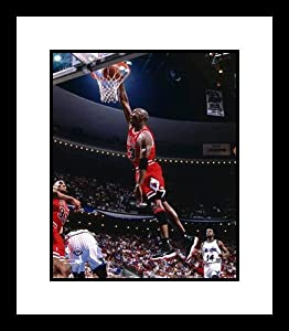 Michael Jordan Chicago Bulls NBA Framed 8x10 Photograph Dunking Red Jersey vs Orlando... by Unknown